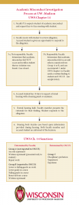The academic misconduct process in a flow chart